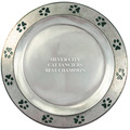 Pewtarex&#8482; Paw Print Rim Cat Show Award Plate