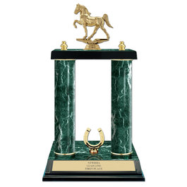 15&quot; Jade Finished Horse Show Trophy w/ Trim