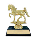 5-1/2&quot; Black Faux Marble Series Award Trophy