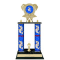 "15"" Design Your Own Trophy w/ Black Base & Trim"