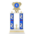 "15"" Design Your Own Trophy w/ White Base & Trim"