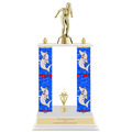 "15"" Trophy w/ Custom Column, Trim &  White Base"