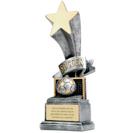 Soccer Star Resin Trophy