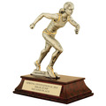 Female Track Signature Resin Trophy