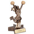 Cheerleader Superstar Resin Trophy