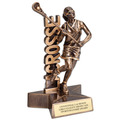Female Lacrosse Superstar Resin Trophy