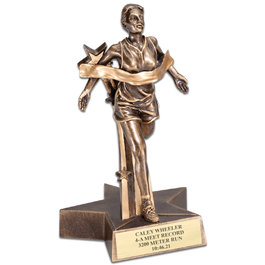 FEMALE TRACK SUPERSTAR SERIES RESIN TROPHY