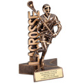 Male Lacrosse Superstar Resin Trophy