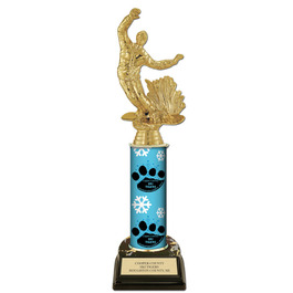 11&quot; Black Base Sports Award Trophy w/ Custom Column