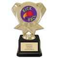 "7"" Black Square Base Sports Trophy w/ Insert Top"