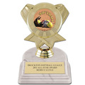 "5-1/2"" White HS Base Sports Trophy w/ Insert Top"