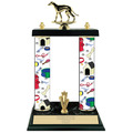 "15"" Black Finished Dog Show Trophy w/ Trim"