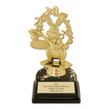 "5-1/2"" Black HS Base School Trophy"