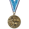 Winner's Circle Medal w/ Any Grosgrain Neck Ribbon