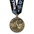 WC Gymnastics Medal w/ Gym Burst Multicolor
