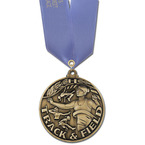 Winner's Circle Sports Medal w/ Any Satin Neck Ribbon