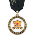 GFL Full Color Wrestling Award Medal w/ Satin Neck Ribbon