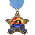 AS All Star Wrestling Award Medal w/ Any Satin Neck Ribbon