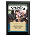 Full Color Wrestling Black Wood Plaque