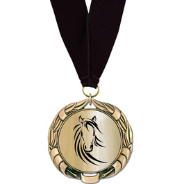 XBX Metallic Medal with Any Grosgrain Neck Ribbon