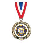 XBX Medal w/ Red/White/Blue or Flag Grosgrain Neck Ribbon
