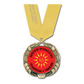 XBX Full Color Award Medal w/ Satin Neck Ribbon
