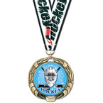 XBX Hockey Medal w/ Any Grosgrain Neck Ribbon