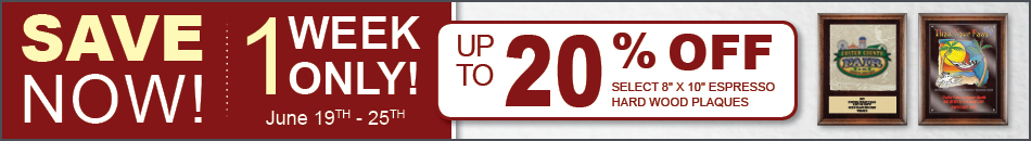 SALE! Up To 20% Off Espresso Plaques