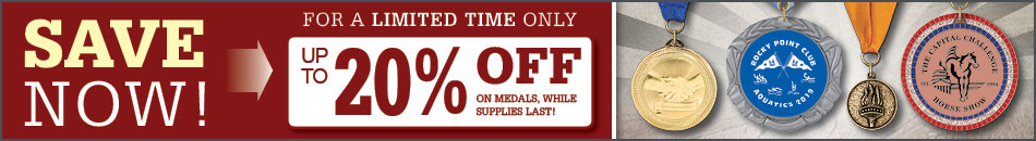 Up To 20% Off Medals