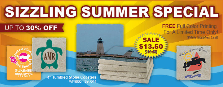 Tumbled Stone Coasters - Up To 30% OFF!