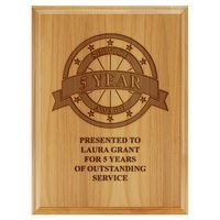 Engraved Red Alder Plaque