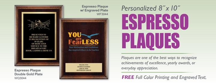 Espresso Award Plaques