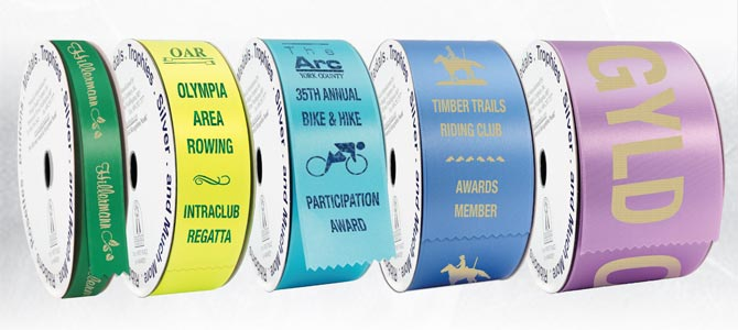 Custom Hot Stamped Ribbon Rolls
