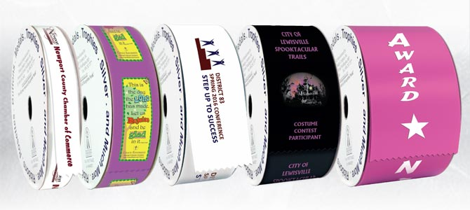 Custom Full Color Ribbon Rolls