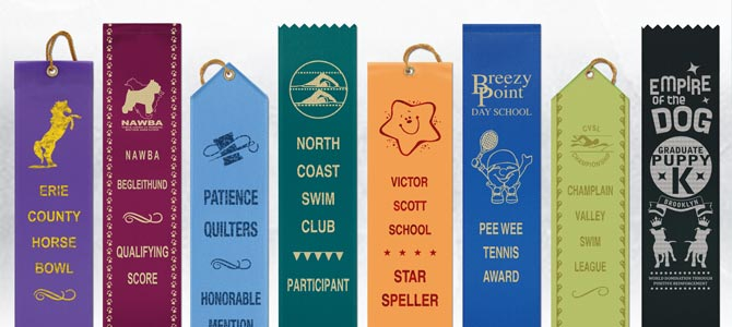 Custom Hot Stamped Flat Award Ribbons