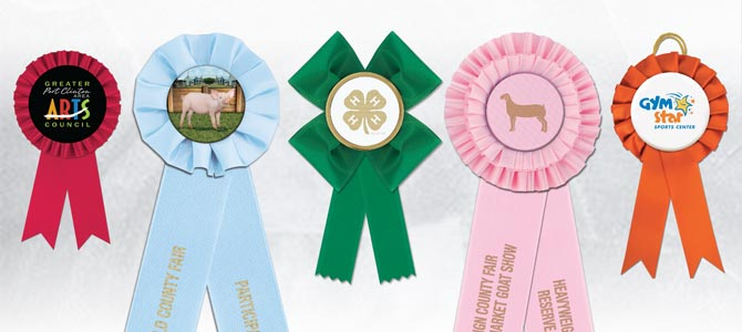 Custom Rosette Award Ribbons for Any Event