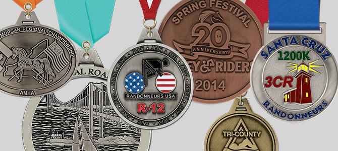Custom Spincast Award Medals