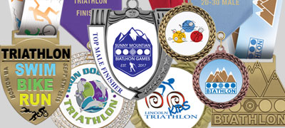 Custom Triathlon/Biathlon Award Medals