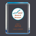 Blue Shimmer Acrylic Award Trophy