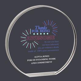 Round Acrylic Award Trophy