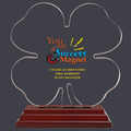 Clover Shaped Acrylic Award Trophy