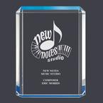 Blue Shimmer Acrylic Award Trophy