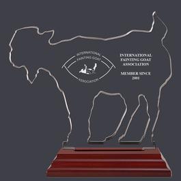 Engraved Goat Shaped Acrylic Award Trophy