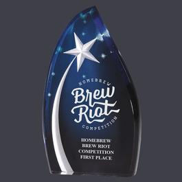 Blue Shooting Star Acrylic Trophy