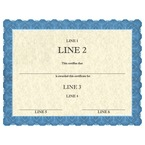 Custom Award Certificates - Classic Blue Design