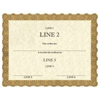Custom Award Certificates - Classic Gold Design