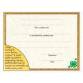In-Stock Full Color Award Certificate - 4-H  Design