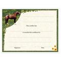 In-Stock Full Color Horse Theme Award Certificate - Full Horse Design