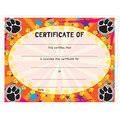 Full Color Stock Certificates - Paws Design