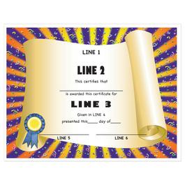 Custom Award Certificates - Scroll Design